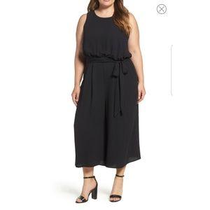Vince Camuto Black Wide Leg Crop Jumpsuit size 18